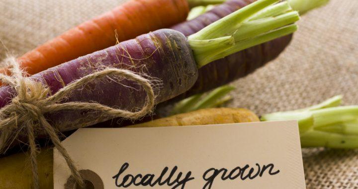 Organic rainbow carrots from the local farm.