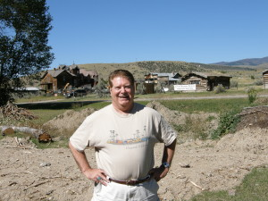 Dr. Lachman just outside Yellowstone